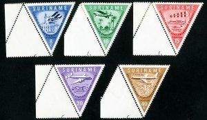 Suriname Stamps # 277-81 NH Used OG