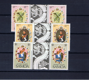 SAMOA 1981 ROYAL WEDDING GUTTER PAIRS
