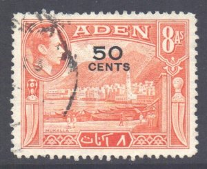 Aden Scott 41 - SG41, 1951 New Currency 50c used
