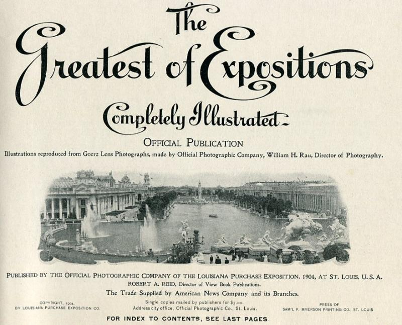 Book  Greatest of Expositions - Louisiana Purchase Expo 1904