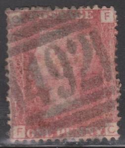 GREAT BRITAIN Scott # 33 Plate 140 Letters C & F - Used