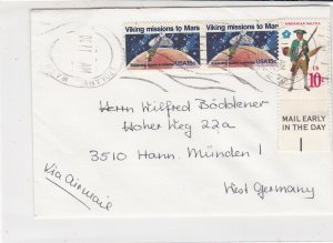 USA Airmail Spokane Cancels Multiple Stamps Cover to West Germany Ref 35085