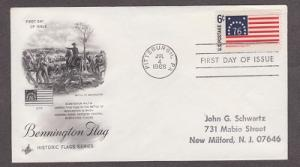 1348 Bennington Flag ArtCraft FDC with neatly hand stamped address