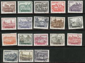Poland Scott 947-963 1960-61 short stamp set 18/20