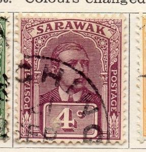Sarawak 1921-23 Early Issue Fine Used 4c. 050871