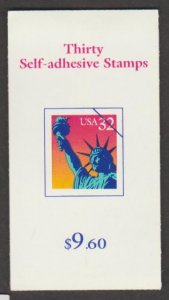 U.S. Scott #3122b-3122d BK260 Statue of Liberty Stamp - Mint NH Booklet