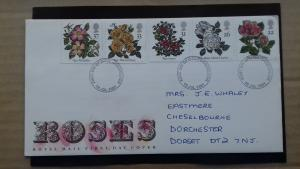 Great Britain 1991 Roses FDC