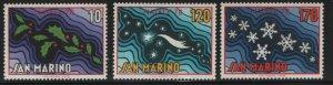 SAN MARINO, 941-943, (3) SET, MNH,1978 Christmas