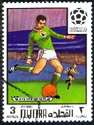 World Cup Soccer Championship, Mexico 1970, Fujeria stamp used