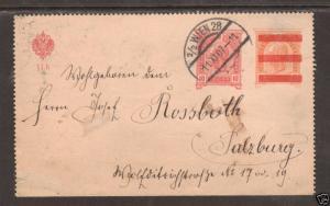 Austria Mi K46c used 1907 10h Letter Card