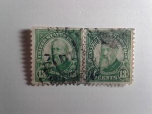 SCOTT # 622 USED TWIN 13 CENT HARRISON !