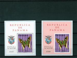 Panama 1968 Butterflies Set (6)Sc # 483-483E 2SS MNH Superb!