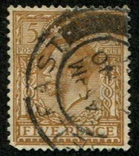 Great Britain SC# 166 (SG#382) George V, 5d, canceled