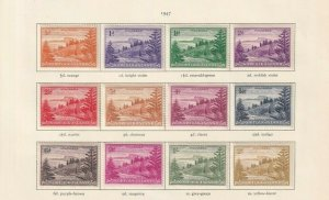 NORFOLK ISLAND GEORGE 6TH CROWN ALBUM PAGE   MOUNTED MINT