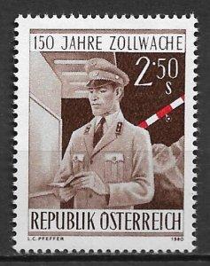 1980 Austria 1165 Customs Service Sesquicentennial MNH