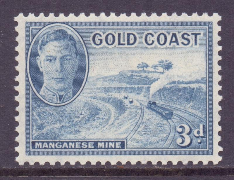 Gold Coast Scott 135 - SG140, 1948 George VI 3d MH*