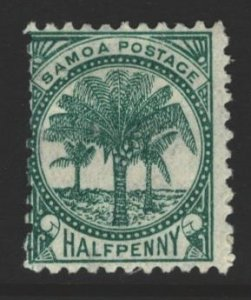 Samoa Sc#10 MH - pencil on reverse