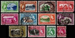 Trinidad & Tobago Scott 72-83 (1953) Used/Mint H F-VF Complete Set, CV $26.85 M