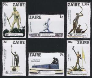 Zaire Kinshasa Monuments 6v SG#1157-1162 SC#1115-1120 CV£6.5