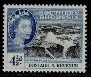 SOUTHERN RHODESIA QEII SG83, 4½d black & deep bright blue, NH MINT.