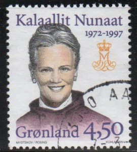 Greenland Sc 314 1997 25th Anniversary Margrethe II stamp used