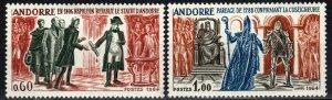 Andorra (Fr) #159-60 F-VF Unused CV $45.00 (X2134)
