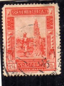 SOMALIA 1935 - 1938 PITTORICA LIRE 1,75 DENT. 14 PERF. USATO USED OBLITERE'