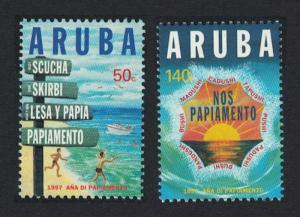 Aruba 'Year of Papiamento' Creole language 2v 1997 MNH SG#192-193