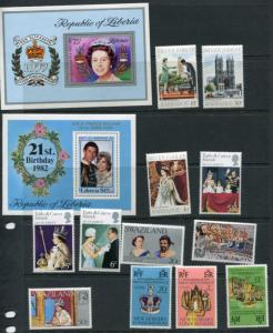 Royalty Souvenir Sheets and Stamps Different countries MNH 2302hs