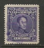 VENEZUELA 281 VFU BOLIVAR J745-5