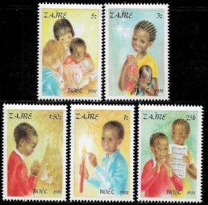 Zaire #1037-41 MNH Set - Christmas