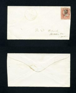 FREE SHIPPING - # 65 cover red cancel Waldo, ME, Dead Post Office - 1-8-1868