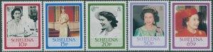 St Helena 1986 SG477-481 60th Birthday QEII set  MNH