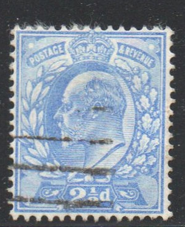 Great Britain Sc 131 1904  2 1/2d ultra Edward VII stamp used