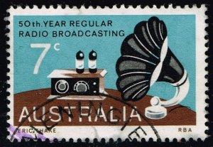 Australia #588 Broadcasting; Used (0.25) (2Stars)