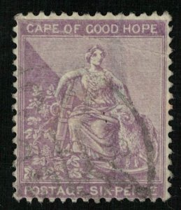 Hope, 6 pence, South Africa (T-9211)