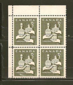 Canada 443 Christmas 1965 Block of 4 MNH