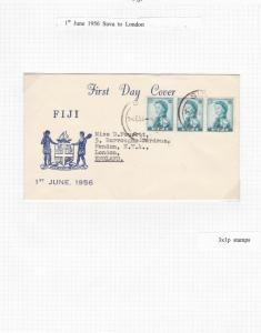 FIJI 1st DAY COVER 1956