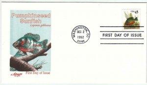 1992, Pumpkinseed Sunfish, Artmaster, FDC (D13711)