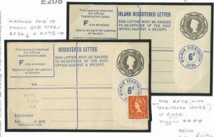 E208 1956 QEII Registered Postal Stationery Rarity RP74 Unused