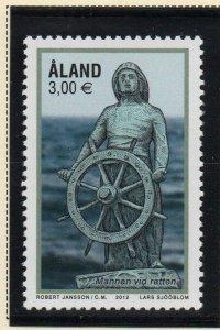 Aland Finland Sc 329 2012 man at Wheel Sculpture stamp mint NH