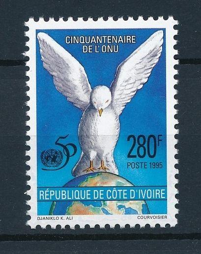 [40890] Ivory Coast 1995 Birds Vögel Oiseaux Ucelli  Dove UN United Nations MNH
