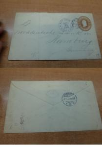 Costa Rica PSE 10c 1905 to Germany, backstamps