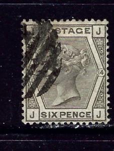 Great Britain 62 Used Plate #14 1880 issue