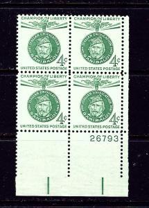 U.S. 1168 MNH 1960 Garibaldi Plate Block