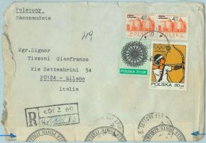 67999 - POLAND - POSTAL HISTORY - COVER to ITALY with OFFICIAL SEALS - ARCHERY