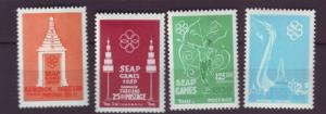 J20521 Jlstamps 1959 thailand set mh #333-6 designs