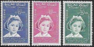 Morocco 32-34 MNH - Childhood Week - Young Girl