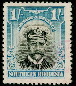 RHODESIA SG10, 1s  black & light blue, FINE USED. Cat £11.