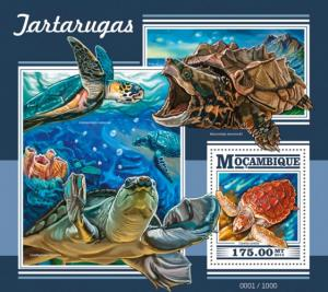Mozambique MNH S/S Turtles Reptiles 2015